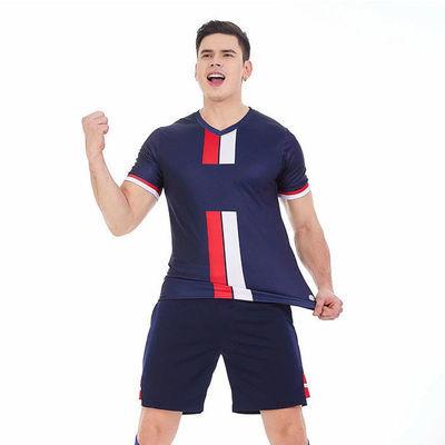 夏季足球服套装男成人定制球衣训练队服儿童健身运动套装速干短裤