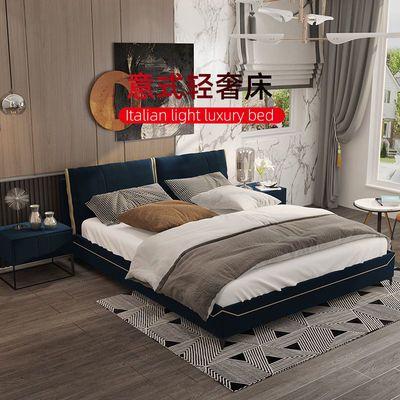 床 现代简约 床北欧简约意式极简轻奢床 主卧真皮布艺床ins网红款