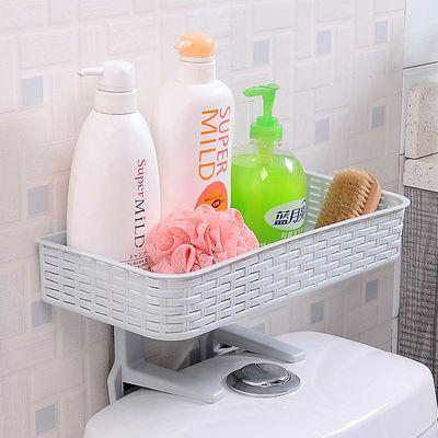 创意卫生间马桶盖上置物架强力吸盘免钉无痕浴室洗手间储物收纳盒