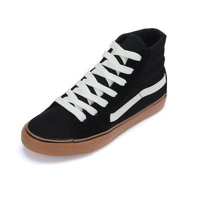 高帮板鞋女bf男鞋原宿风港仔文艺陈冠希同款街头嘻哈滑板鞋帆布鞋