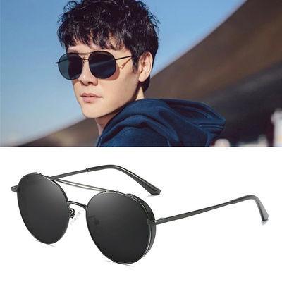 偏光太阳镜男2020年新款开车驾驶眼镜时尚百搭潮流墨镜女圆形复古