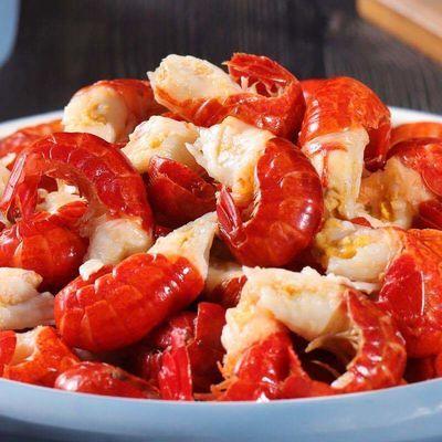 特级无冰衣龙虾尾麻辣小龙虾冷冻小虾球虾类制品海鲜水产批发包邮