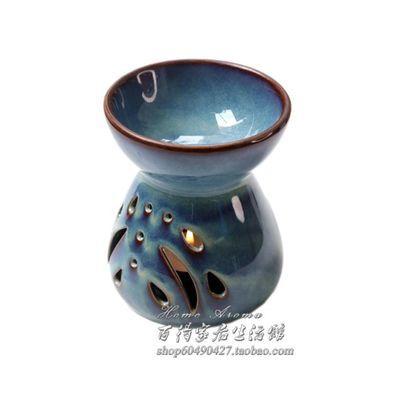 大容量 手工陶瓷香薰助眠灯小檀香 熏香炉蜡烛托精油瑜伽家用室内