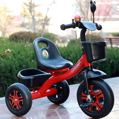 儿童三轮车脚踏车1-3-5岁男女孩2宝宝自行车婴幼儿手推三轮车童车