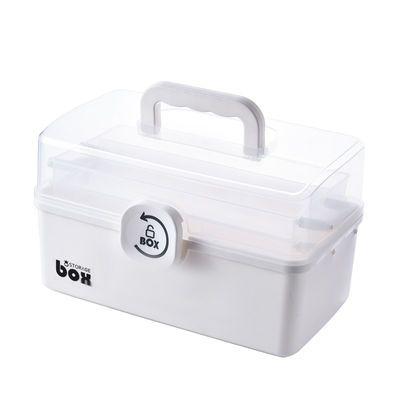 医药箱家用大号家庭医用儿童急救药品收纳盒多功能首饰工具储物箱