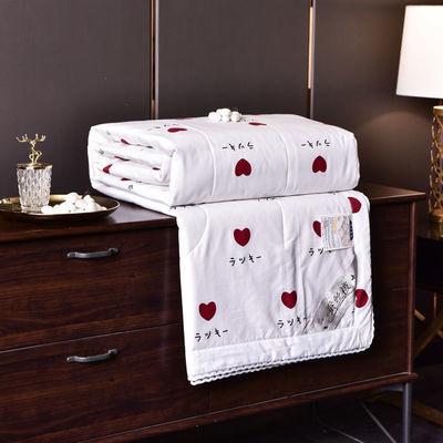 全棉蚕丝被空调被夏凉被单双人可水洗夏季薄款纯棉被子