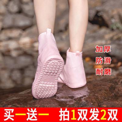 防雨防水加厚耐磨防滑底硅胶雨鞋套男女成人儿童鞋套