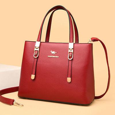 包包女2020新款真皮质感中年女包手提包百搭大容量妈妈包单肩斜挎