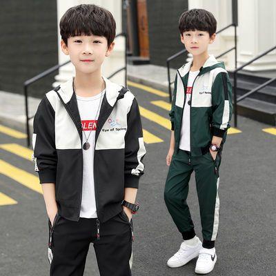 儿童装男童秋装套装2020新款春秋季中大童男孩运动两件套洋气潮衣