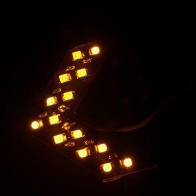 摩托车转向灯改装配件刹车灯鬼火彩灯箭头灯方向灯转弯灯LED灯泡