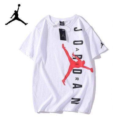2020ss夏季100%纯棉飞人短袖男韩版宽松潮流大码运动篮球T恤上衣