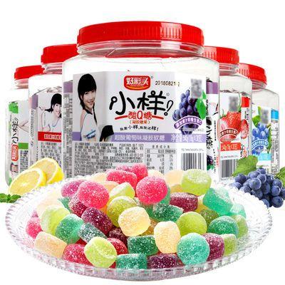 好彩头小样酸q糖桶装混合18g*15支多口味儿童小零食软糖果汁QQ糖