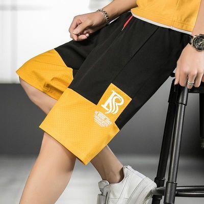 2020夏季短裤男日系宽松大码工装裤港风薄款休闲裤五分裤521-P18