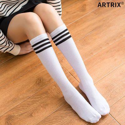 二三四条杠袜子女道中筒长筒韩国日系足球袜高筒校服长袜甜美5054