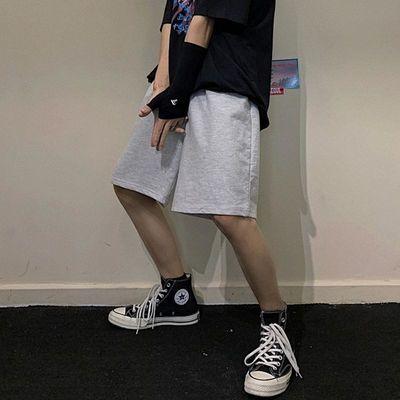 INSstudios.韩国ins夏季潮流韩版百搭纯色休闲裤潮牌运动五分短裤