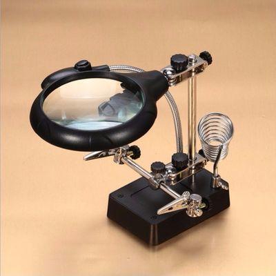 远途台式放大镜20倍带电源带灯支架多功能电焊手机主板维修工作台