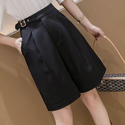 西装五分裤Chic休闲短裤2020年韩版新款高腰黑色大码显瘦阔腿裤女