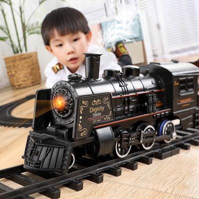 仿真火车轨道电动火车儿童玩具地铁高铁复古蒸汽火车男孩模型