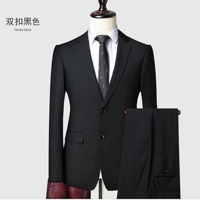 罗蒙 男士西装正装商务休闲职业套装修身西服新郎结婚礼服伴郎