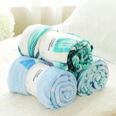 夏天盖毯单人珊瑚绒毯子办公室午睡空调毛毯女法兰绒被子夏季薄款