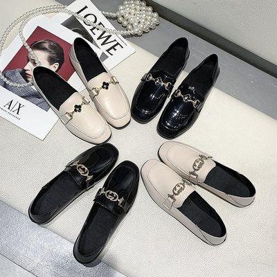 2020春季新款韩版百搭小皮鞋女学生英伦学院风复古单鞋平底乐福鞋