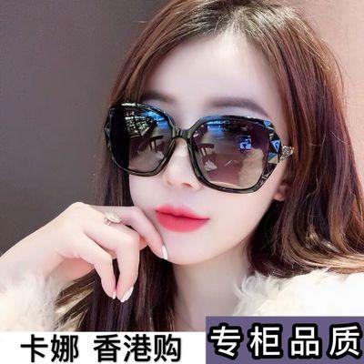 59790/【卡娜香港购】GM新款偏光女太阳镜大框圆脸长脸防紫外线潮流网红