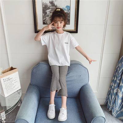 小女孩衣服夏季儿童套装女童运动中大童韩版洋气时髦网红潮两件套