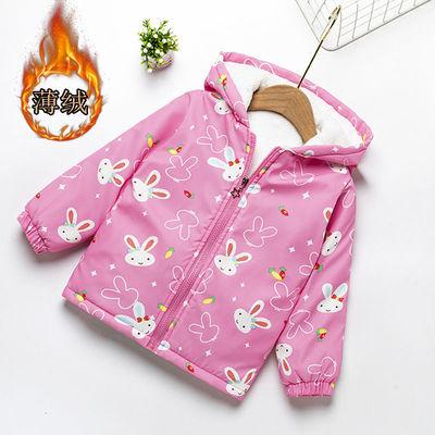 女童外套春秋2020秋装新款加绒加厚小童开衫儿童宝宝夹克薄款上衣