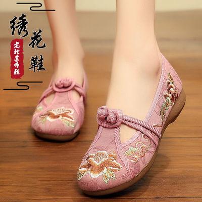老北京布鞋绣花鞋女民族风女鞋刺绣花鞋妈妈女士复古绣花鞋女古风