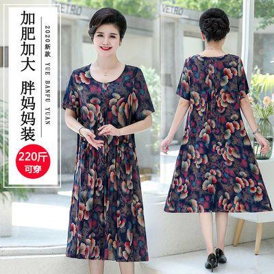 中年女装夏装50岁妈妈连衣裙夏大码女装230斤胖mm2020新款裙子