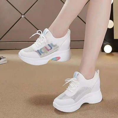 温州透气内增高运动鞋女新款夏季网鞋韩版小白鞋夏天网面休闲鞋子