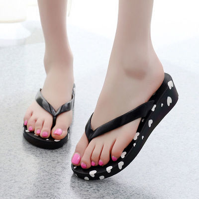 女鞋拖鞋夏季高跟2020新款人字拖女防滑厚底网红拖鞋女士时尚外穿