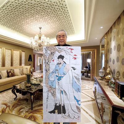 范曾书画名家手写人物画后赤壁赋四尺纯手绘专用水印宣纸收藏证书