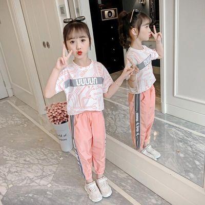 2019女童夏装套装2020新款儿童夏季运动大童装女孩韩版洋气时髦网