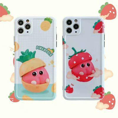 可爱水果适用苹果7plus手机壳iPhone11pro max女x/xs小清新xr/8软