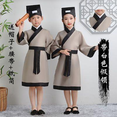 儿童古装女汉服国学服装小学生幼儿弟子规书童六一演出服三字经