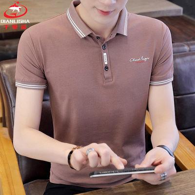 ?【千里鲨】95%棉夏季男士短袖POLO衫韩版时尚潮流半袖翻领T恤衫