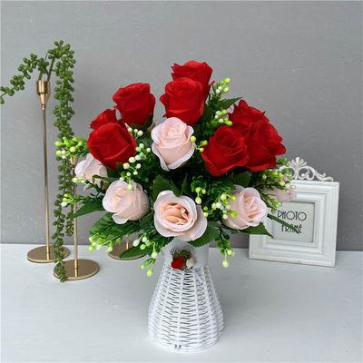 仿真花假花摆设客厅办公桌塑料干花摆件茶几花束植物小盆栽装饰花