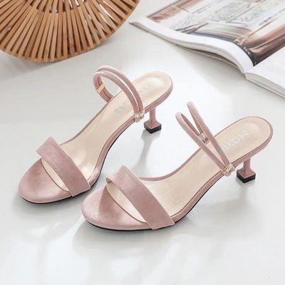新款品牌正品夏季女凉鞋清仓特价学生韩版外穿细跟高跟拖鞋子