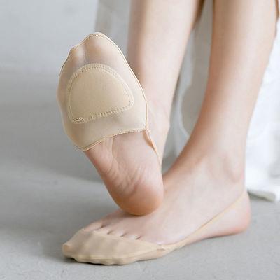 防磨脚袜子女吊带船袜隐形袜秋季浅口防滑高跟鞋前脚半掌袜垫冬季