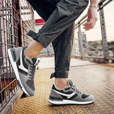 男鞋秋季2020新款男士运动休闲百搭跑步阿甘潮鞋网面透气鞋子夏季