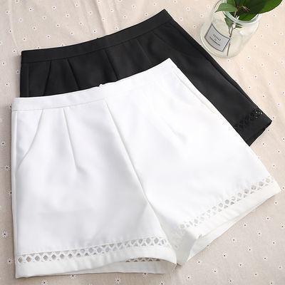 高腰a字短裤女宽松 2020新款夏季韩版外穿白色西装显瘦粗腿阔腿裤