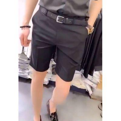 夏休闲西裤短裤男网红ins百搭发型师夜店五分裤痞帅社会小伙裤子
