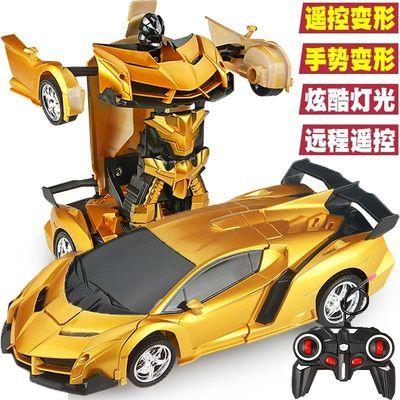感应变形遥控车儿童玩具金刚无线赛车机器人遥控汽车男孩生日礼物