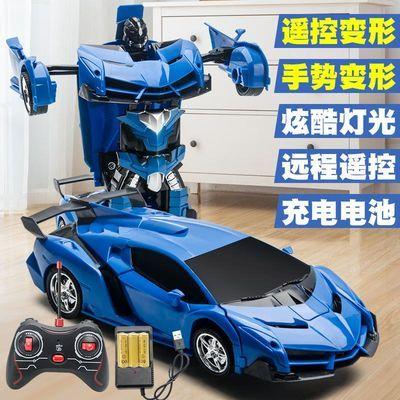 感应遥控变形汽车儿童玩具2-3岁男孩6岁金刚遥控车充电动赛车礼物