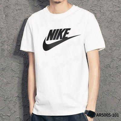 Nike耐克官网短袖男装 2020夏季新款运动男士体恤半袖白色T恤