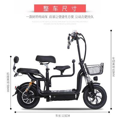 折叠电动自行车迷你小电动电瓶车双人锂电亲子代步母子成人电动车