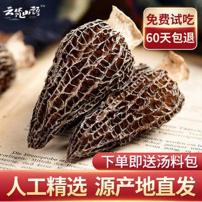 超大羊肚菌干货特级剪柄云南羊肚菌野生土特产煲汤食用菌春节礼品