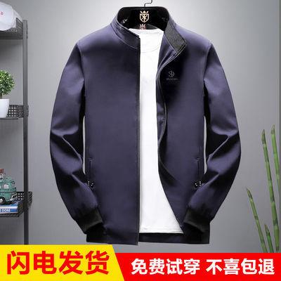 厂家直销男士春秋季新款夹克外套潮流休闲版高档青年男装薄厚可选