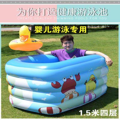 儿童游泳池充气家庭婴儿洗澡桶宝宝加厚小孩超大号戏水池成人家用